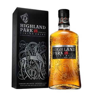 Buy 70cl Highland Park 18 year old Malt rich aroma and virtuosity of flavours all enveloped in its subtle smoky blanket a real must try . Price includes free UK Mainland Delivery, and Exports and international delivery available.