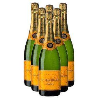 Buy Case of Six Veuve Clicquot Yellow Label NV 75cl Bottles Bulk Packed in a single case. . Price includes free UK Mainland Delivery, and Exports and international delivery available.