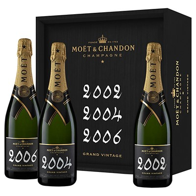 Buy Moet & Chandon Grand Vintage Collection Vintage Champagne 02, 04 and 06 75cl