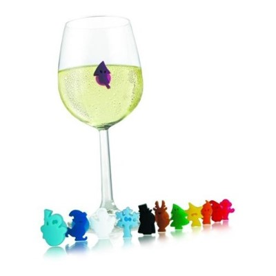 Vacu Vin Party People Glass Markers Set of 12  Set of 12 unique characters. Suction cup sticks to any smooth surface. Recognise your drink.  . Price includes free UK Mainland Delivery, and Exports and international delivery available.
