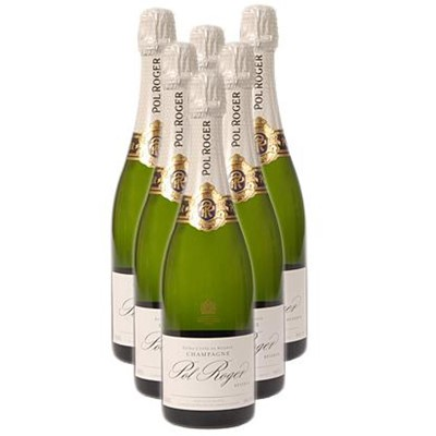 Buy Case of Twelve Pol Roger Brut NV 75cl Bottles Bulk Packed in a single case. . Price includes free UK Mainland Delivery, and Exports and international delivery available.