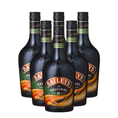 Baileys Irish Cream 6x75cl Case of Six Baileys Irish Cream 70cl of Bailey's Irish Cream is a unique irish spirit made from a mix of cream sugar cocoa and the finest irish spirits Bulk Packed in a single case . Price includes free UK Mainland Delivery, and Exports and international delivery available.