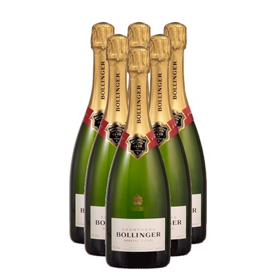 Buy Case of Six Bollinger Special Cuvee 75cl Bottles Bulk Packed in a single case. . Price includes free UK Mainland Delivery, and Exports and international delivery available.