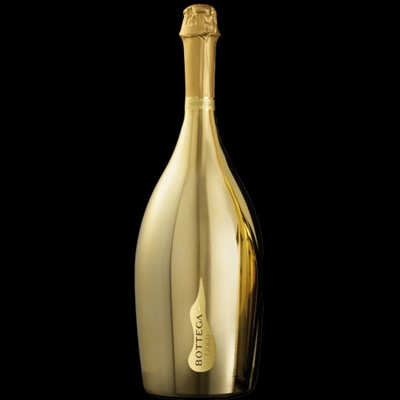 Bottega Gold Prosecco Spumante Jeroboam The finest Prosecco, Bottega Gold is a Prosecco DOC obtained by the vinification in white of the Glera grapes, grown in the Valdobbiadene hills. Presented in a Venetian gold bottle, the grapes for this sparkling wine are hand picked to give an elegant and fresh taste with a fine perlage. The golden bottle not only looks exquisite but preserves it's aroma and freshness.