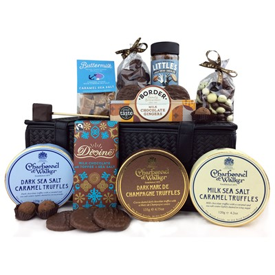 We Love To Share Chocolate Hamper - Botled and boxed