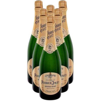 Buy Case of Six Perrier Jouet Grand Brut NV 75cl Bottles Bulk Packed in a single case. Price includes free UK Mainland Delivery, and Exports and international delivery available.