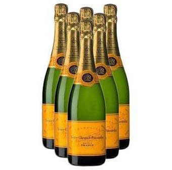 Buy Case of Twelve Veuve Clicquot Yellow Label NV 75cl Bottles Bulk Packed in a single case. . Price includes free UK Mainland Delivery, and Exports and international delivery available.