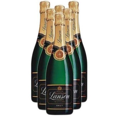 Buy Case of Six Lanson Black Label NV 75cl Bottles Bulk Packed in a single case. . Price includes free UK Mainland Delivery, and Exports and international delivery available.