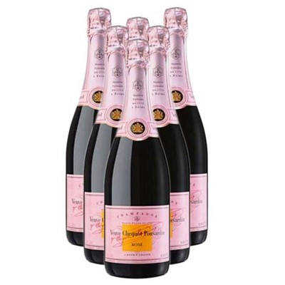 Buy Case of Six Veuve Clicquot Rose NV 75cl Bottles Bulk Packed in a single case. . Price includes free UK Mainland Delivery, and Exports and international delivery available.