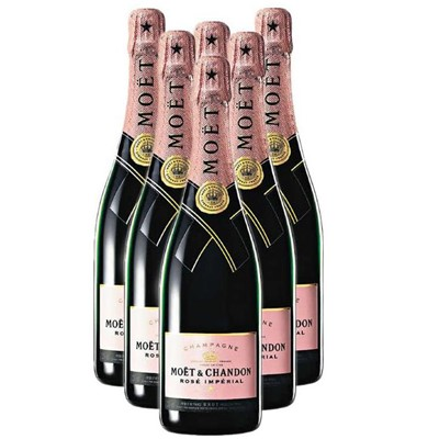 Buy Case of Twelve Moet et Chandon Rose NV 75cl Bottles Bulk Packed in a single case. Price includes free UK Mainland Delivery, and Exports and international delivery available.