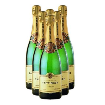 Buy Case of Six Taittinger Brut Reserve NV 75cl Bottles Bulk Packed in a single case. . Price includes free UK Mainland Delivery, and Exports and international delivery available.