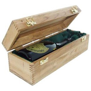 A single bottle of Dom Perignon, Vintage, 2009, Champagne 75cl Presented in a luxurious light Oak wooden box with hinged lid and clasp. The box is lined and comes with a Gift Card for your personal message. Dom Perignon, Vintage, 2004, Luxury Case. Price includes free UK Mainland Delivery, and Exports and international delivery available.