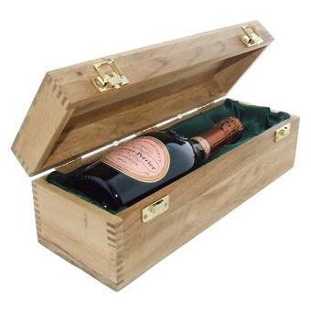 Buy a single bottle of Laurent Perrier Rose NV Champagne 75cl Presented in a luxurious light Oak wooden box with hinged lid and clasp. The box is lined with silver satin and comes with a Gift Card for your personal message. . Price includes free UK Mainland Delivery, and Exports and international delivery available.
