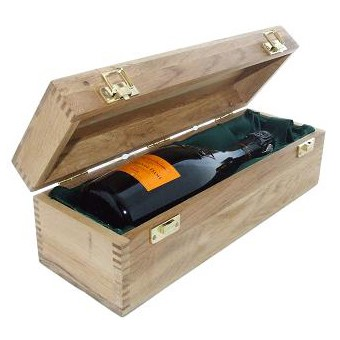 Buy a single bottle of Veuve Clicquot La Grande Dame 2006 Champagne 75cl Presented in a luxurious light Oak wooden box with hinged lid and clasp. The box is lined with silver satin and comes with a Gift Card for your personal message. Price includes free UK Mainland Delivery, and Exports and international delivery available.