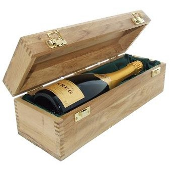 Buy a single bottle of Krug Grande Cuvee NV Champagne 75cl Presented in a luxurious light Oak wooden box with hinged lid and clasp. The box is lined with silver satin and comes with a Gift Card for your personal message. . Price includes free UK Mainland Delivery, and Exports and international delivery available.
