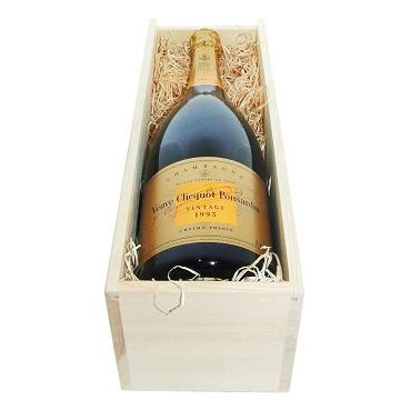 Buy a Magnum of Veuve Clicquot Vintage Reserve Champagne 1.5 litres Presented in a wooden gift box with sliding lid the box is lined with wood wool A Vintage Champagne from the fine House of Veuve Clicquot. . Price includes free UK Mainland Delivery, and Exports and international delivery available.