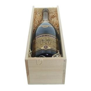 Buy a Magnum of Louis Roederer Brut Premier NV Champagne 1.5 litres . Presented in a wooden gift box with sliding lid the box is lined with wood wool. A passionate love for the vine knowing to retain the style of each cru ageing it in the wood tasting it without respite waiting patiently for time to perfect mans work thus comes into the world a champagne signed Louis Roederer. Absolute Magic! . Price includes free UK Mainland Delivery, and Exports and international delivery available.