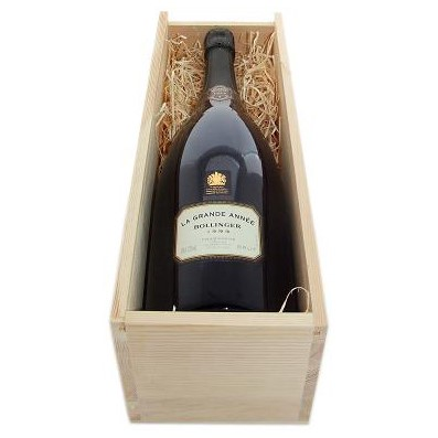 Magnum of Bollinger Grande Annee Champagne 2005, Wooden Box-Buy a Magnum of Bollinger Grande Annee 2004 Champagne (1.5 litres). Presented in a wooden gift box with sliding lid the box is lined with wood wool. An Absolute Must try! - UK delivery only (Export delivery price on application)