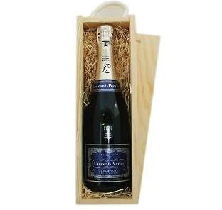 Buy Send a single bottle of Laurent Perrier Ultra Brut NV Champagne 75cl Presented in a wooden gift box with sliding lid and lined with wood wool with a Gift Card for your personal message. . Price includes free UK Mainland Delivery, and Exports and international delivery available.