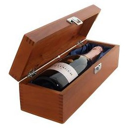 Buy a single bottle of Bollinger Rose NV Champagne 75cl Presented in a luxurious stained wooden box with hinged lid and clasp. The box is lined with silver satin and comes with a Gift Card for your personal message. . Price includes free UK Mainland Delivery, and Exports and international delivery available.