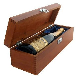 Buy a single bottle of Louis Roederer Brut Premier NV Champagne 75cl Presented in a luxurious stained wooden box with hinged lid and clasp. The box is lined with silver satin and comes with a Gift Card for your personal message. . Price includes free UK Mainland Delivery, and Exports and international delivery available.