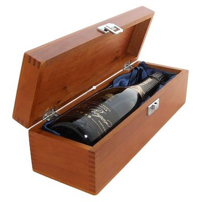 Buy a single bottle of Pol Roger Brut Vintage 2008 Champagne Presented in a luxurious stained wooden box with hinged lid and clasp. The box is lined with silver satin and comes with a Gift Card for your personal message. . Price includes free UK Mainland Delivery, and Exports and international delivery available.