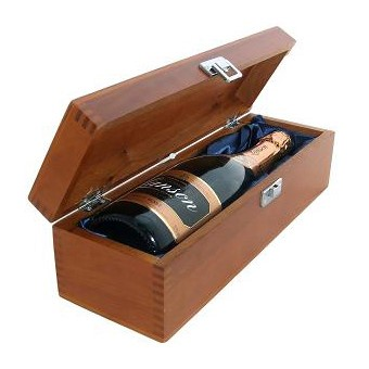 Buy a single bottle of Lanson Gold Label Vintage 2005 Champagne 75cl Presented in a luxurious stained wooden box with hinged lid and clasp. The box is lined with silver satin and comes with a Gift Card for your personal message. . Price includes free UK Mainland Delivery, and Exports and international delivery available.