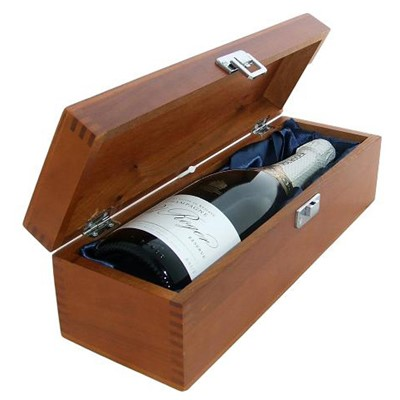 Buy a single bottle of Pol Roger Brut Reserve NV Champagne 75cl Presented in a luxurious stained wooden box with hinged lid and clasp. The box is lined with silver satin and comes with a Gift Card for your personal message. . Price includes free UK Mainland Delivery, and Exports and international delivery available.