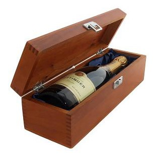 Buy a single bottle of Taittinger Brut Reserve NV Champagne 75cl Presented in a luxurious stained wooden box with hinged lid and clasp. The box is lined with silver satin and comes with a Gift Card for your personal message. . Price includes free UK Mainland Delivery, and Exports and international delivery available.