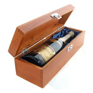 Buy a single bottle of Louis Roederer Brut Vintage 2009 Champagne 75cl Presented in a luxurious stained wooden box with hinged lid and clasp. The box is lined with silver satin and comes with a Gift Card for your personal message. . Price includes free UK Mainland Delivery, and Exports and international delivery available.