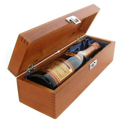 Buy a single bottle of Louis Roederer Brut Vintage Rose Champagne Presented in a luxurious stained wooden box with hinged lid and clasp. The box is lined with silver satin and comes with a Gift Card for your personal message. . Price includes free UK Mainland Delivery, and Exports and international delivery available.