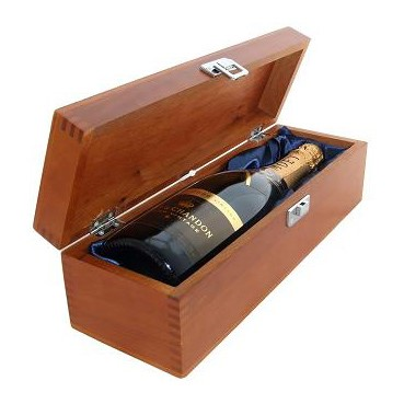Buy a single bottle of Moet & Chandon Brut Vintage 2009 Champagne 75cl Presented in a luxurious stained wooden box with hinged lid and clasp. The box is lined with silver satin and comes with a Gift Card for your personal message. . Price includes free UK Mainland Delivery, and Exports and international delivery available.