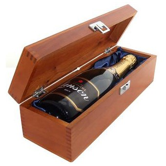 Buy a single bottle of Lanson Black Label NV Champagne 75cl Presented in a luxurious stained wooden box with hinged lid and clasp. The box is lined with silver satin and comes with a Gift Card for your personal message. . Price includes free UK Mainland Delivery, and Exports and international delivery available.