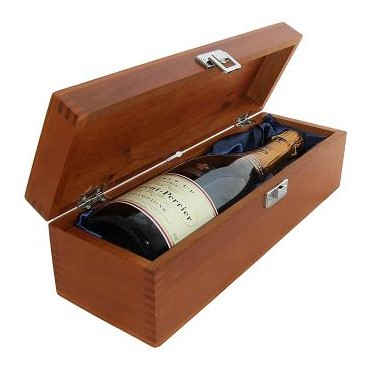 Buy a single bottle of Laurent Perrier NV Champagne 75cl Presented in a luxurious stained wooden box with hinged lid and clasp. The box is lined with silver satin and comes with a Gift Card for your personal message. . Price includes free UK Mainland Delivery, and Exports and international delivery available.