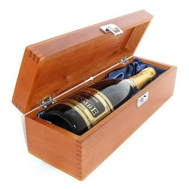 Buy a single bottle of Jules Feraud Brut NV Champagne (75cl) Presented in a luxurious stained wooden box with hinged lid and clasp. The box is lined with silver satin and comes with a Gift Card for your personal message. . Price includes free UK Mainland Delivery, and Exports and international delivery available.