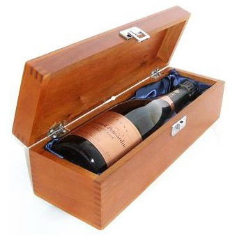 Buy a single bottle of Veuve Clicquot Vintage Rose 2008 Champagne 75cl Presented in a luxurious stained wooden box with hinged lid and clasp. The box is lined with silver satin and comes with a Gift Card for your personal message. . Price includes free UK Mainland Delivery, and Exports and international delivery available.
