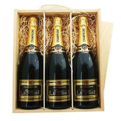 Buy Three x 75cl bottles of Jules Feraud Brut NV Champagne supplied in a wooden timber case lined with wood wool. Available for UK mainland delivery only Export delivery price available on request . Price includes free UK Mainland Delivery, and Exports and international delivery available.