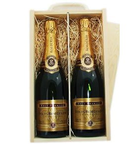 Buy Two x 75cl bottles of Louis Roderer Brut Imperial NV Champagne supplied in a wooden timber case lined with wood wool. Available for UK mainland delivery only Export delivery price available on request . Price includes free UK Mainland Delivery, and Exports and international delivery available.