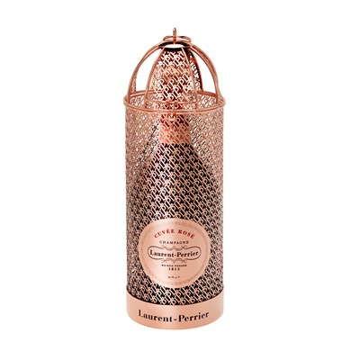 Send Laurent-Perrier Cuvee Rose Champagne Limited Edition Lace Lantern Gift Cage 75cl