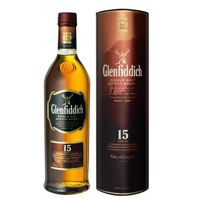 Immensely popular Glenfiddich variant. Using a Solera system common in the maturation of quality sherry, 15yo malt from three different types of casks is married together in a wooden vat, which is constantly topped up to ensure the quality is maintained. Price includes free UK Mainland Delivery, and Exports and international delivery available.