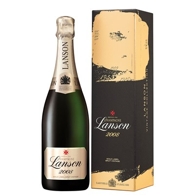 Buy a single bottle of Lanson Gold Label Vintage 2008 Champagne 75cl Presented in a stylish Gift Box with Gift Card for your personal message Well structured with racy acidity but with rich undertones and soft maturity one to savour. . Price includes free UK Mainland Delivery, and Exports and international delivery available.