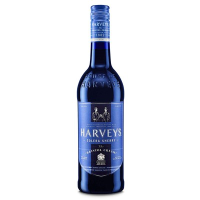 Buy a bottle of Harveys Bristol Cream Sherry 75cl Online with free delivery.  Harveys Bristol Cream features flavours of roasted nuts and raisins, with a subtly spicy finish. Price includes free UK Mainland Delivery, and Exports and international delivery available.