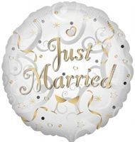 Buy & Send Just Married 18 inch Foil Balloon