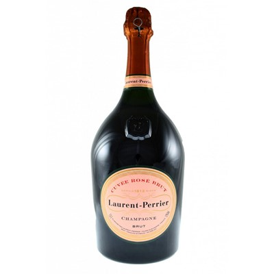 Buy a Magnum of Laurent Perrier Rose NV Champagne 1.5 litres Gift Card for your personal message Laurent Perrier Rose has a coral pink colour and faint strawberry flavour. This Champagne is delicious . Price includes free UK Mainland Delivery, and Exports and international delivery available.