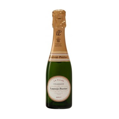 Mini Laurent Perrier La Cuvee NV Champagne 20cl  Delicacy combined with a rich full fruit flavour and a lingering finish  another you simply have to try!. Price includes free UK Mainland Delivery, and Exports and international delivery available.
