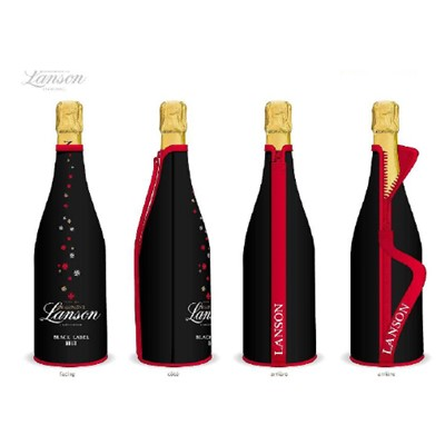 This limited edition gift comes in a black Sparkling neoprene bottle cover which will keep your bubbles chilled for up to 2 hours. Personalize this gift by adding your own personal message. If there is one Non Vintage Brut champagne that is universally appreciated it is surely Lanson Black Label a great classic that embodies the ideas and the character of a great House. . Price includes free UK Mainland Delivery, and Exports and international delivery available.
