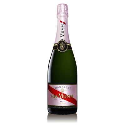 The intensity from the Pinot Noir Grape of this Grand Cru, the Mumm Rose distinguishes itself by its fine and elegant aromas of berries.
