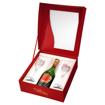 Tsarine Brut Champagne Gift Box with 2 Glasses (75cl)
