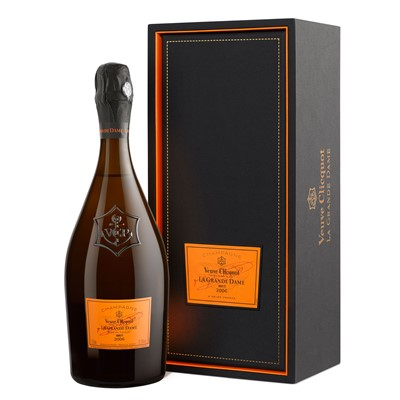 Buy Send a single bottle of Veuve Clicquot La Grande Dame 2006 Champagne 75cl Presented in a stylish Gift Box with Gift Card for your personal message Rich and intense in bouquet and flavour with notes of dried figs apricots and pear. . Price includes free UK Mainland Delivery, and Exports and international delivery available.