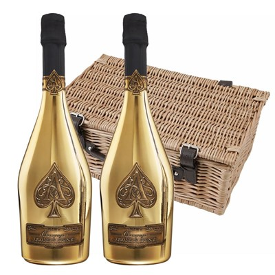 Armand de Brignac Brut Gold NV Champagne 75cl Twin Hamper (2x75cl)